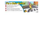 6-3800 I'm a Safe Walker Bookmark - English