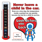 2-5110  Heatstroke Thermometer Window Cling