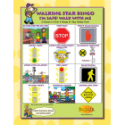 6-3391 Walking Star Bingo Game Front