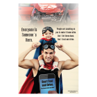 3-6046 Everyone is Someone's Hero Poster - English