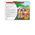 7-1420 Summer Safety Award Certificate - English