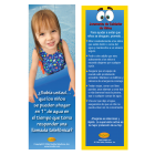 7-1499 Only An Inch Of Water Bookmark - Spanish