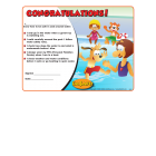 7-1510 I'm Safe! in the Water Award Certificates - English