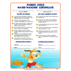 7-3000 Parent - Child Water Watcher Award Certificates - English