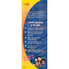 7-4425 Check Your Pool Standup Banner - English