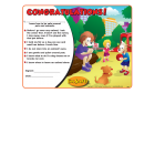 9-1300  I'm Safe! Around Pets and Animals Award Certificate - English