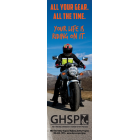 "3-9001 ""All Your Gear. All The Time."" Motorcycle Safety Bookmark"