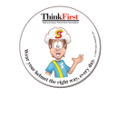ThinkFirst Round Sticker