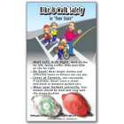 Bike/Pedestrian Safety Light Set & Custom Card