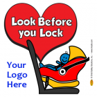 2-5102 Look Before You Lock Window Cling - Rear-Facing Car Seat