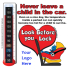 2-5108  Heatstroke Thermometer Cling - Rear- Facing Car Seat