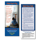 "5-3753 Fall Prevention ""Kids Can't Fly"" Pledge Card"