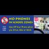3-6210 No Phones in School Zones 8' x 3' Large Banner