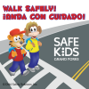 Bilingual Walk Safely Stickers