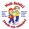 6-2840 Walk Safely Stickers - Bilingual