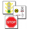 8-4190 Large Format Teaching Cards - Traffic Safety