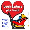 2-5102 Look Before You Lock Window Cling - Rear-Facing Car Seat