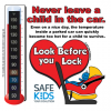 2-5108 Safe Kids Heatstroke Thermometer Cling - RF Car Seat