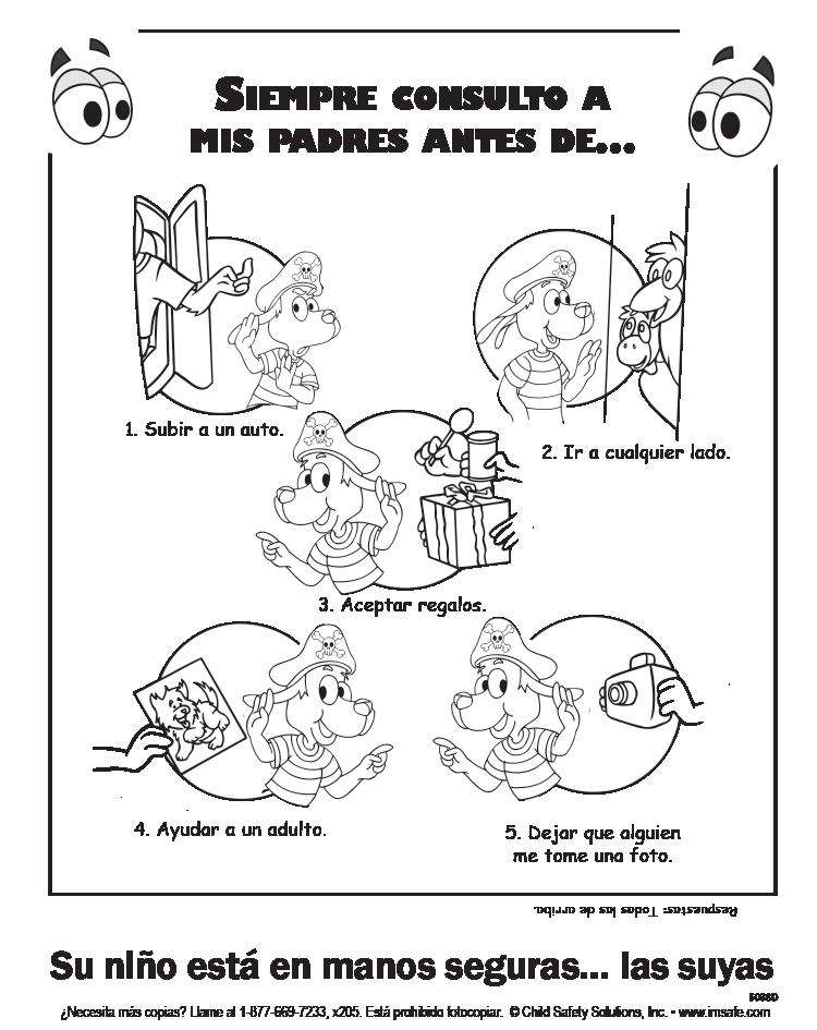6-5038 Parent Tip Sheet - Halloween Safety - Spanish   I'm Safe