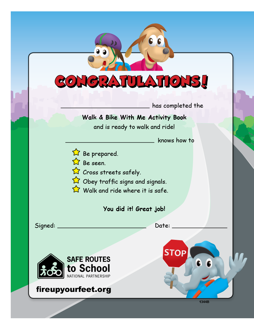 6 1344 safe routes to school activity coloring book im safe fire up your feet edition back cover robcynllc Images